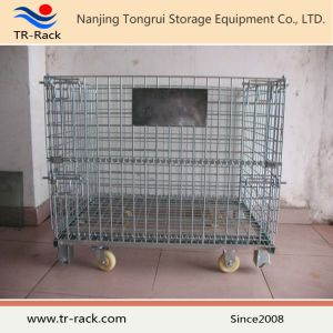 Heavy Duty Factory Price Galvanized Metal Wire Mesh Cage with Caster pictures & photos