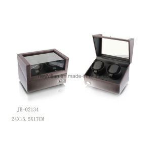Black Leather 2PCS Watch Display Storage Box Watch Winder Reviews pictures & photos