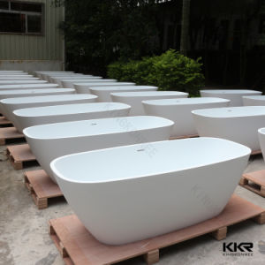 Wholesale White Solid Surface Freestanding Bathtub pictures & photos