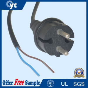 Black European AC 2 Pin Power Cord Cable pictures & photos