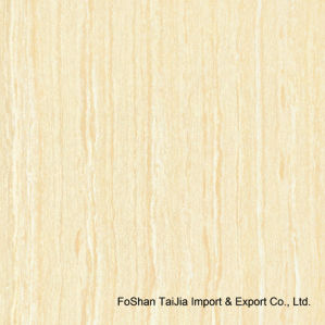 Building Material Yellow Line Stone Polished Porcelain Floor Tile (TJ6302) pictures & photos
