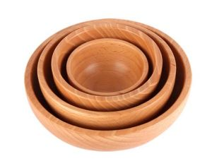 Fashion Solid Wooden Fruit Salad Bowl pictures & photos