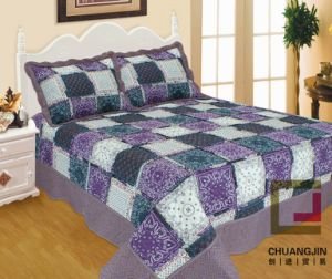 Ultrasonic Printed Quilt Bedding Sheet pictures & photos
