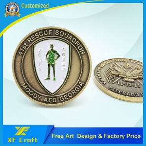 Hot Sale Fashion Custom Brass Gold Plated Commemorative Coin (XF-CO15) pictures & photos
