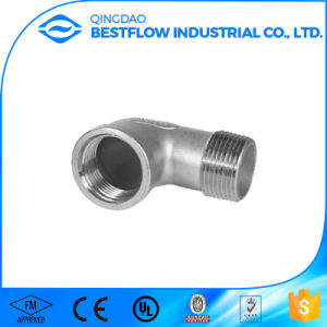 150lbs Stainless Steel Screwed Pipe Fitting 90 Degree Reduce Elbow pictures & photos