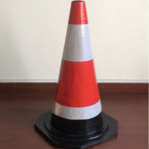 Red & Orange Retractable Traffic Safety PVC Cone for Road Sign pictures & photos