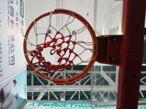 Electric Hydraulic Folding Basketball Stand Base with Tempered Glass Backboard pictures & photos