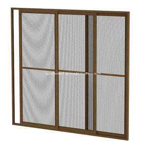 Aluminium Frame Fibreglass Mesh Horizontal Retractable Insect Screen pictures & photos