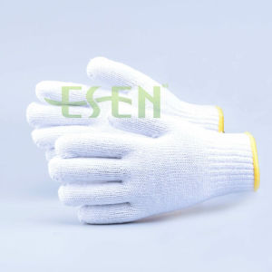 A Grade Knitted Cotton Glove, 600g Cotton Work Glove, White Knitted Gloves pictures & photos