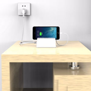Electrical Outlet Us EU UK Au Wall Plug Power Socket with Stand and USB Ports pictures & photos