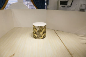 Hotel White Marble Top Golden Side Table Small Table pictures & photos
