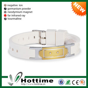 Hottime Scalar Energy Bracelet with Eco Silicone (1CP-JS-NW-014) pictures & photos
