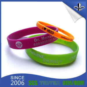 Factory Hot Sale OEM Style Custom Printing Logo Silicon Wristband pictures & photos