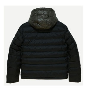 Unisex Men Winter Faked Down Jacket with Contrast Hood pictures & photos