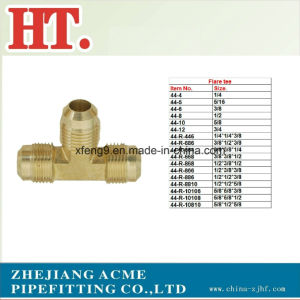 Us Brass Flare Tee Fitting pictures & photos