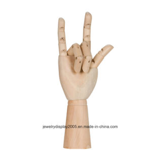 """4.5 """"and 6"""" Natural Color Wooden Hand Use for Ring pictures & photos"""