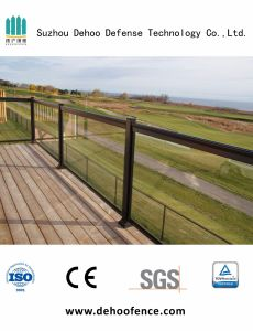 Hot Sale Security Galvanized Glass Fence with High Quality pictures & photos