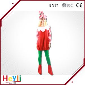 Lovely Cute Child Girls Christmas Party Candy Cane Cosplay Costume pictures & photos