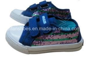 Fashion Children Injection Canvas Shoes Leisure Shoes Customized (CVW13-G33) pictures & photos