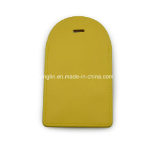 Top Quality Simple Design Yellow Leather Luggage Tag pictures & photos