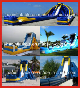 Super Long Lane Slide, Inflatable Water Slip Slide for Competition pictures & photos