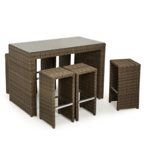 Leisure Place Cafe Patio Garden Wicker Furniture Pub Bar Bistro Rattan Chair and Table pictures & photos
