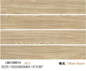 High Quality Building Material Porcelain Wood Tile Lnc159014 Light Brown