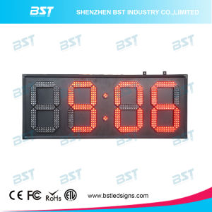 Indoor or Semi-Outdoor Red Digital LED Clock Sign pictures & photos