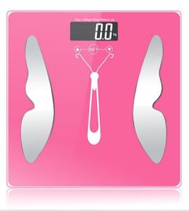 Large Glass Platform Electronic Bathroom Weighing Digital Body Fat Scale pictures & photos
