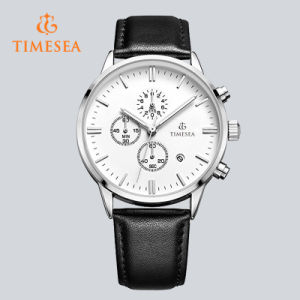 Shenzhen Factory OEM Genuine Leather Classical Chronograph Watch72487 pictures & photos