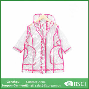 PVC Transparent Children′s Wear Raincoat pictures & photos