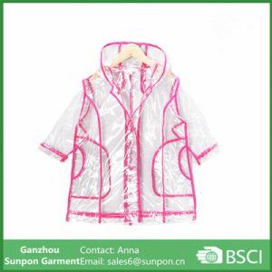 Transparent Children′s Wear Raincoat pictures & photos