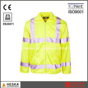 Mens 3m Protective Reflective High Visibility Safety Jacket pictures & photos