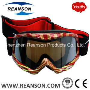 Reanson Youth Double Lenses Anti-Fog Skiing Goggles pictures & photos