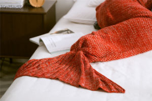 100% Cotton Knitted Mermaid Blankets Crochet Mermaid Tail Blankets pictures & photos