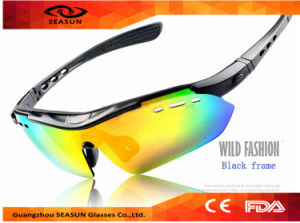 Wholesale 2016 Hot Selling Outdoor UV400 Revo Lens Cycling Goggles Cycling Sport Sunglasses with 5 Interchangeable Lens pictures & photos