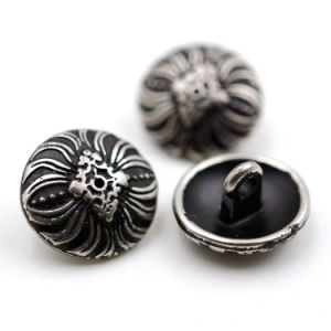 Custom Matt Darker Antique Silver Metal Sewing Button pictures & photos