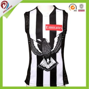 New Design Custom Sublimation Cheap Afl Football Jumper Jersey pictures & photos