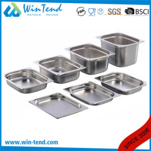 Hot Sale Stainless Steel Electrolytic Restaurant Kitchen 1/6 Size Gastronorm Tray pictures & photos
