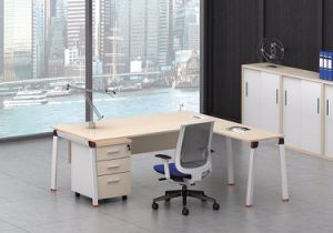 White Customized Metal Steel Office Executive Table Frame Ht91-2 pictures & photos