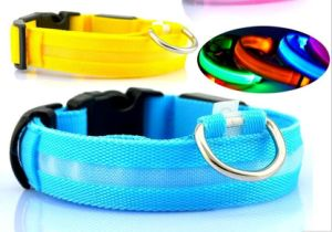 Pet Dog Collar LED Light Night Safety Light-up
