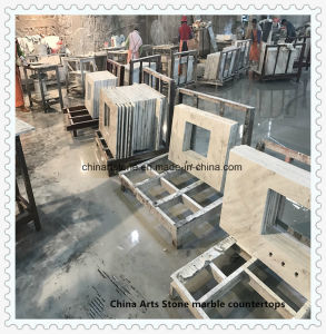 Chinese White Marble Kitchen Countertop for Residential Building pictures & photos