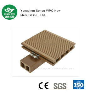 Outdoor Rotproof Round Hole WPC Flooring Decking pictures & photos