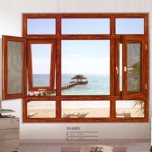 Woodwin Hot Seller Customized Style Double Tempered Glass Aluminium Window pictures & photos