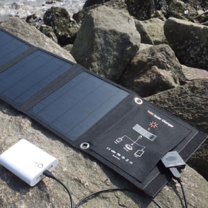 Universal 16W Folding Solar Panel Charger External Power Bank pictures & photos