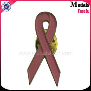 Custom Mini Red Ribbon Iron Lapel Pin with Good Quality pictures & photos