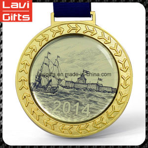 Custom Sport Gold Oval Medal with Award pictures & photos
