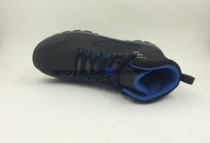 Rubber Sole Slip-Resisting Safety Shoes with Toe Protection (16054) pictures & photos