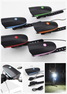 Color with Horn USB Rechargeable Bike LED Light pictures & photos