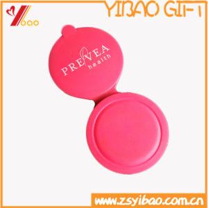Custom Logo Wholesale Promotion Silicone Rubber Souvenir Pocket Mirror pictures & photos